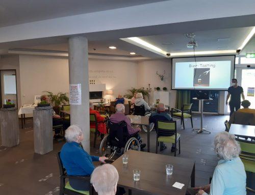 Biertasting für interessierte Bewohner der Seniorenresidenz Mühlenhof in Zeven